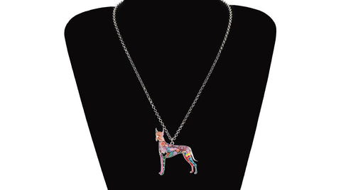 great dane necklace on bust
