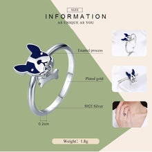 Load image into Gallery viewer, 925 Sterling Silver French Bulldog Ring with & Dog Bone Charm