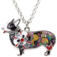 Load image into Gallery viewer, Colorful Enamel Corgi Necklace