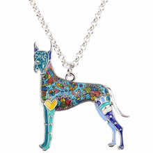 Load image into Gallery viewer, Colorful Great Dane Necklace - Pendant For Dog Lovers