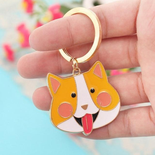 Cute Corgi Keychain - Dog Lover Jewelry Accessory