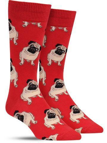 Cute Pug Crew Socks For Men & Women
