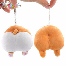 Load image into Gallery viewer, Funny Corgi Butt Plush Keychain