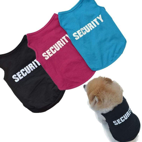 Funny Security Dog Shirt - Cute Vest For Small Breeds