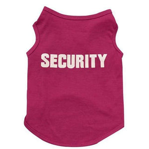 Funny Security Guard Shirt & Halloween Dog Costume