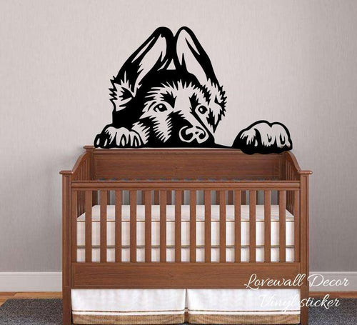German Shepherd Vinyl Wall Sticker - Children's Room / Baby Nursery