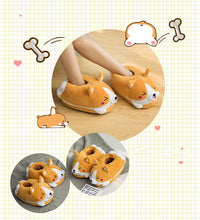 Load image into Gallery viewer, Women's Plush Corgi Slippers - Cute & Warm!