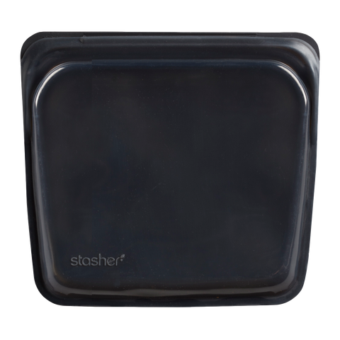 054 Stasher Bag, sandwich bag - obsidian.