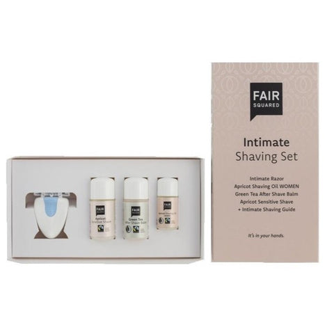 078 FAIR SQUARED - APRICOT INTIMATE SHAVING SET