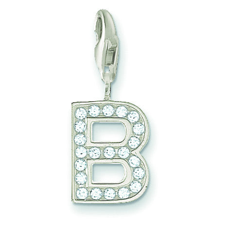 Thomas Sabo Letter B Charm with Cubic Zirconia's
