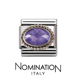 Nomination Purple Silver Twist Charm