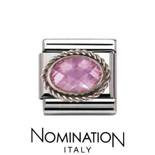 Nomination Pink Silver Twist Charm