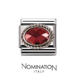 Nomination Red Silver Twist Charm