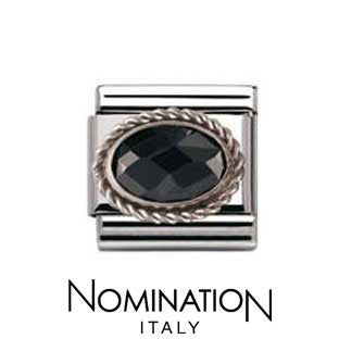 Nomination Black Silver Twist Charm
