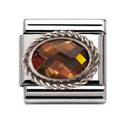 Nomination Amber Silver Twist Charm