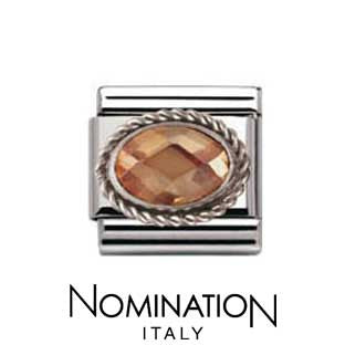 Nomination Champagne Silver Twist Charm