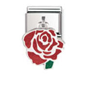 Nomination Red Rose Dangling Charm