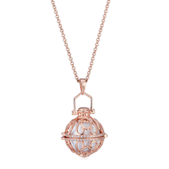 Seraphim Rose Gold Ball Holder With Heart Design & Zirconia & White Sound Ball