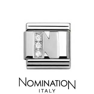 Nomination Classic CZ Silver Letter N