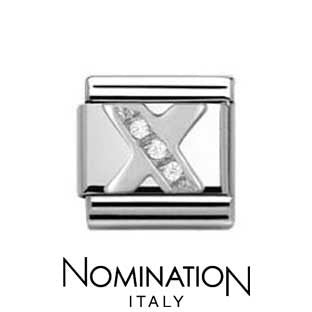 Nomination Classic CZ Silver Letter X