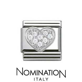 Nomination SilverShine Cubic Zirconia Heart Charm
