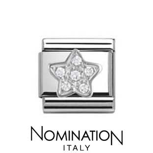 Nomination SilverShine Star Cubic Zirconia Charm