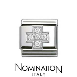 Nomination SilverShine Cross Cubic Zirconia Charm