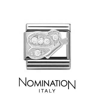 Nomination SilverShine Butterfly Cubic Zirconia Charm