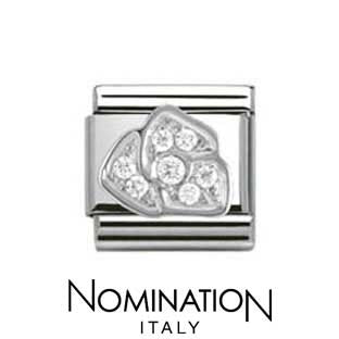 Nomination SilverShine Rose Cubic Zirconia Charm