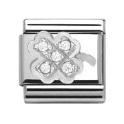Nomination SilverShine Clover Cubic Zirconia Charm