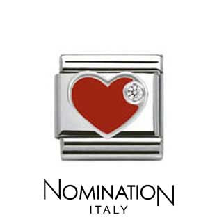 Nomination SilverShine Red Heart Charm