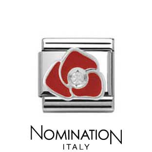 Nomination SilverShine Red Rose Charm