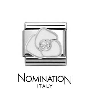 Nomination SilverShine White Rose Charm