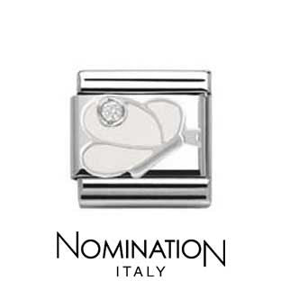 Nomination SilverShine White Butterfly Charm