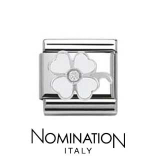 Nomination White Clover Charm