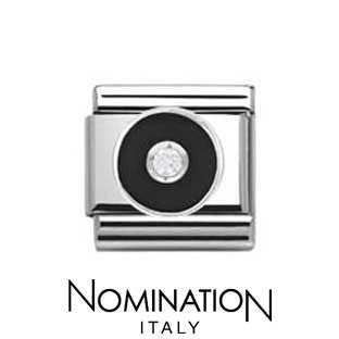 Nomination Black Circle Charm