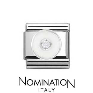 Nomination White Circle Charm