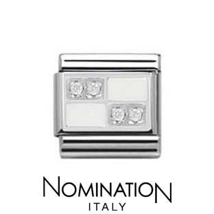 Nomination White Chessboard Charm