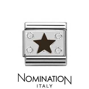 Nomination Black Star Charm