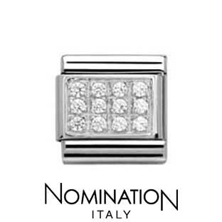 Nomination White Pave Charm