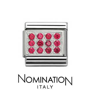 Nomination Red Pave Charm