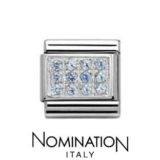 Nomination light Blue Pave Charm