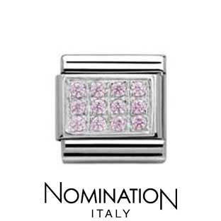 Nomination Pink Pave Charm