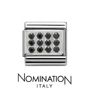 Nomination Black Pave Charm
