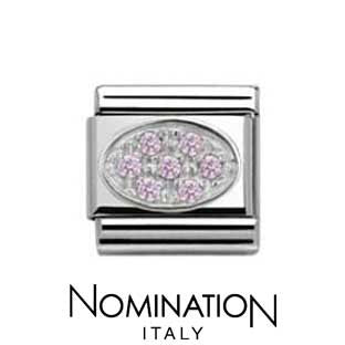 Nomination Pink Oval Charm