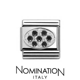 Nomination Black Oval Charm