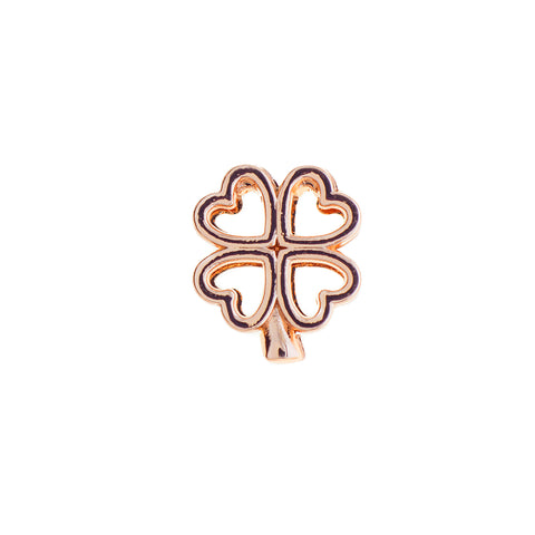 Buckle Up Rose Gold 4 Heart Clover Charm