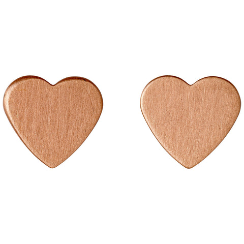 Pilgrim Rose Gold Plated Heart Studs