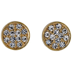 "Pilgrim Gold Plated Crystal Studs ""Grace"""