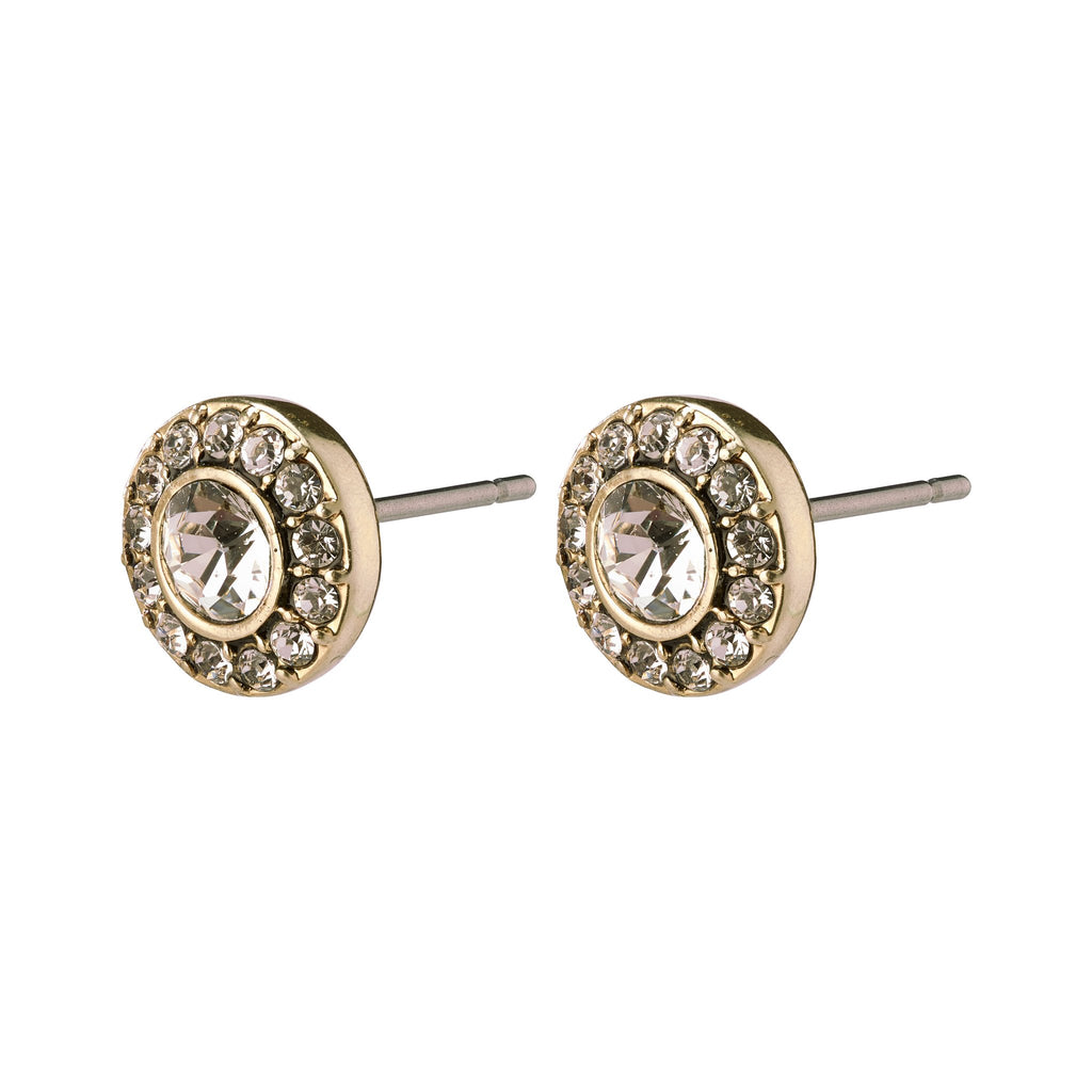 Pilgrim Gold Plated Crystal Studs